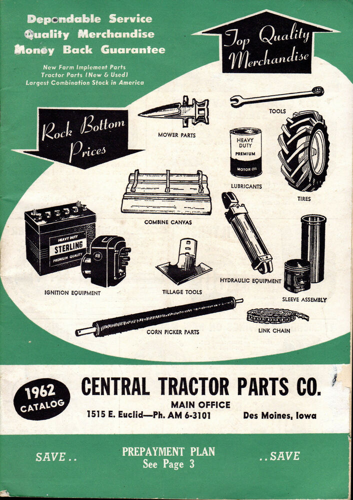 Tractor Parts Catalog : Catalog central tractor parts new used tools etc des