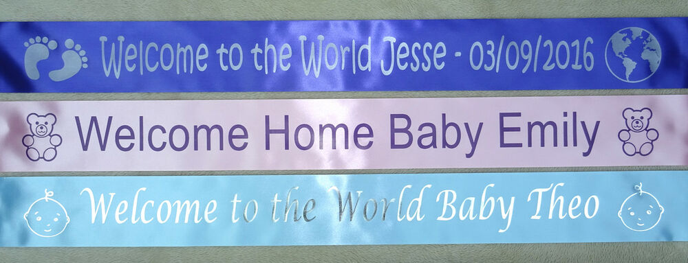 welcome home baby personalised banner welcome to the world ebay