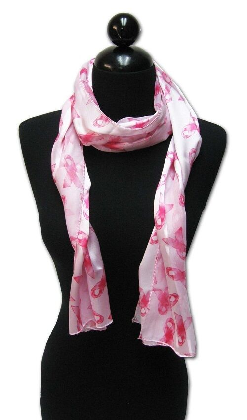 pink ribbon breast cancer awareness scarf headband sash ebay