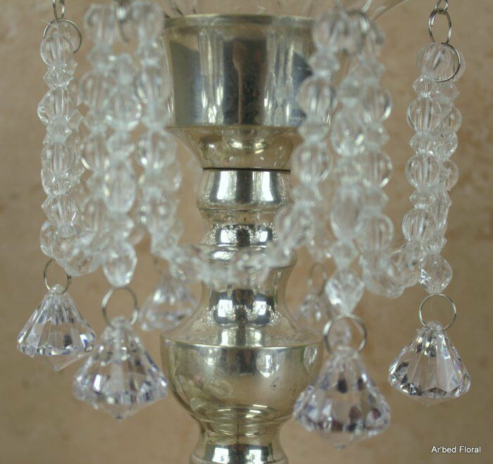 Crystal Clear Diamond BOBECHE Crystal Acrylic Candle Ring