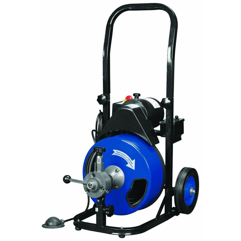 Sewer Snake Auger Drain Cleaner 50 Ft Commercial Power