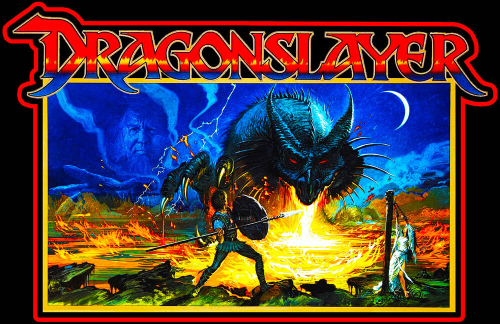 80u0026#39;s Fantasy Classic Dragonslayer British Poster Art ...