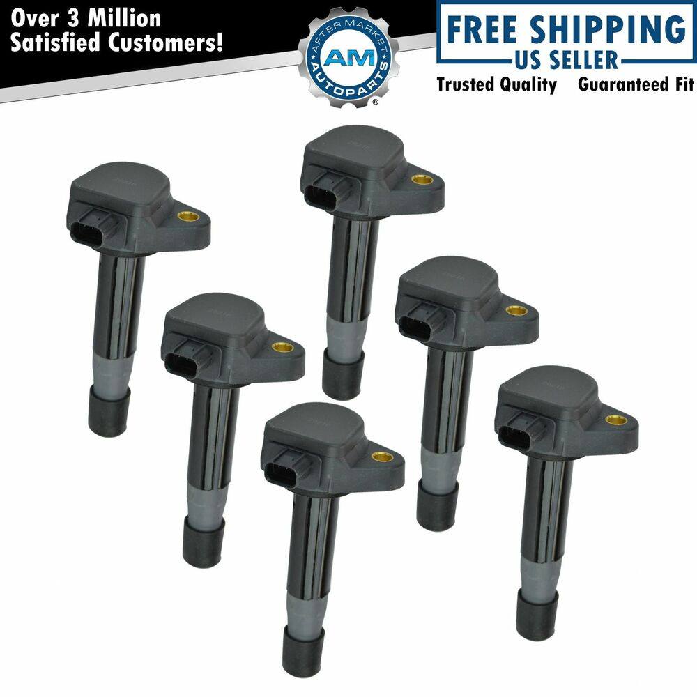ignition coil set of 6 for honda accord crosstour odyssey. Black Bedroom Furniture Sets. Home Design Ideas