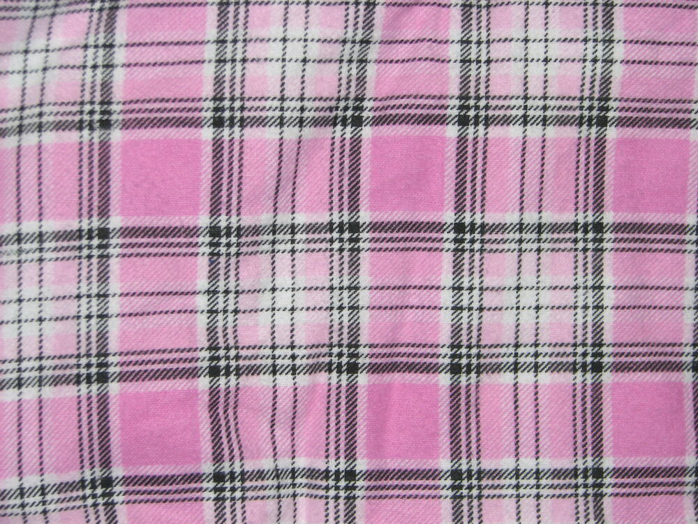 Handcrafted Flannel Fitted Crib Sheet Pink Black Amp White