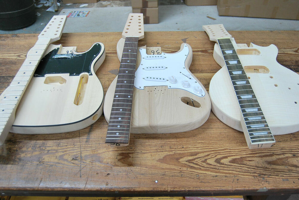 pick either finished electric guitars or diy kits 12 string tele or strat style ebay. Black Bedroom Furniture Sets. Home Design Ideas