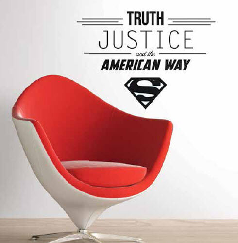 SUPERMAN QUOTE: TRUTH JUSTICE AND THE AMERICAN WAY wall