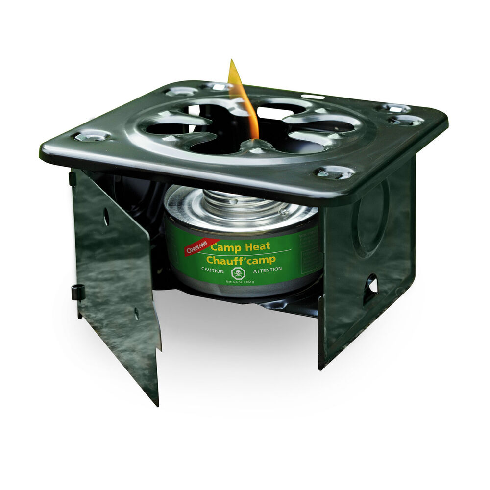 FOLDING EMERGENCY STOVE USE WITH STERNO TYPE FUEL CAMP ...