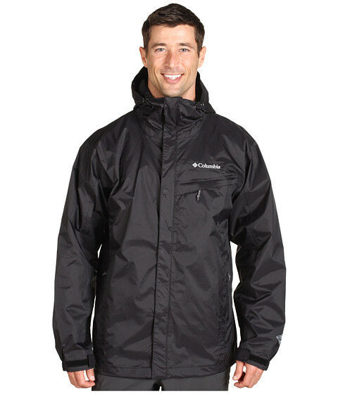 New columbia mens waterproof omni tech hooded rain jacket for Mens fishing rain gear