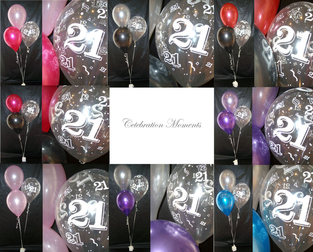 Happy 21st birthday party helium balloon decoration diy for 21st party decoration