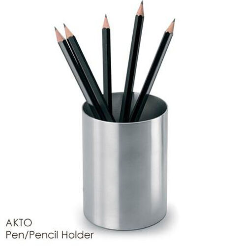 blomus akto stainless steel pen pencil cup holder 63207 ebay. Black Bedroom Furniture Sets. Home Design Ideas