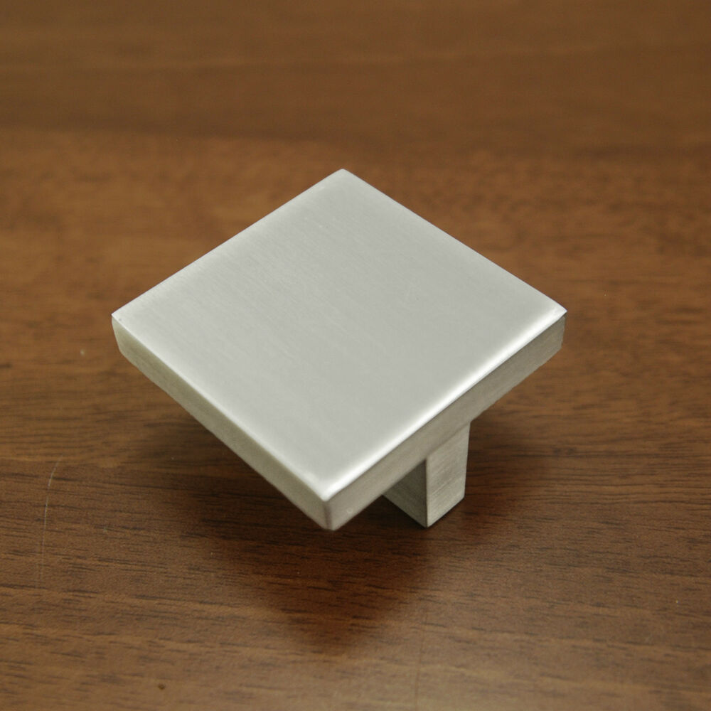 Chrome Square Kitchen Cupboard Door Handles Drawer Knob