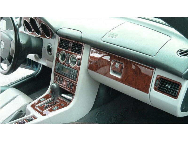 Wood Dash Trim Kit Premium 17 Pcs Fits Mercedes Benz Slk