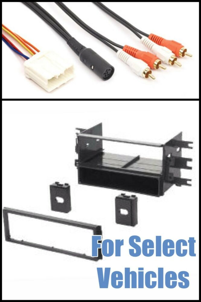 din car stereo radio install dash trim kit infinity amp