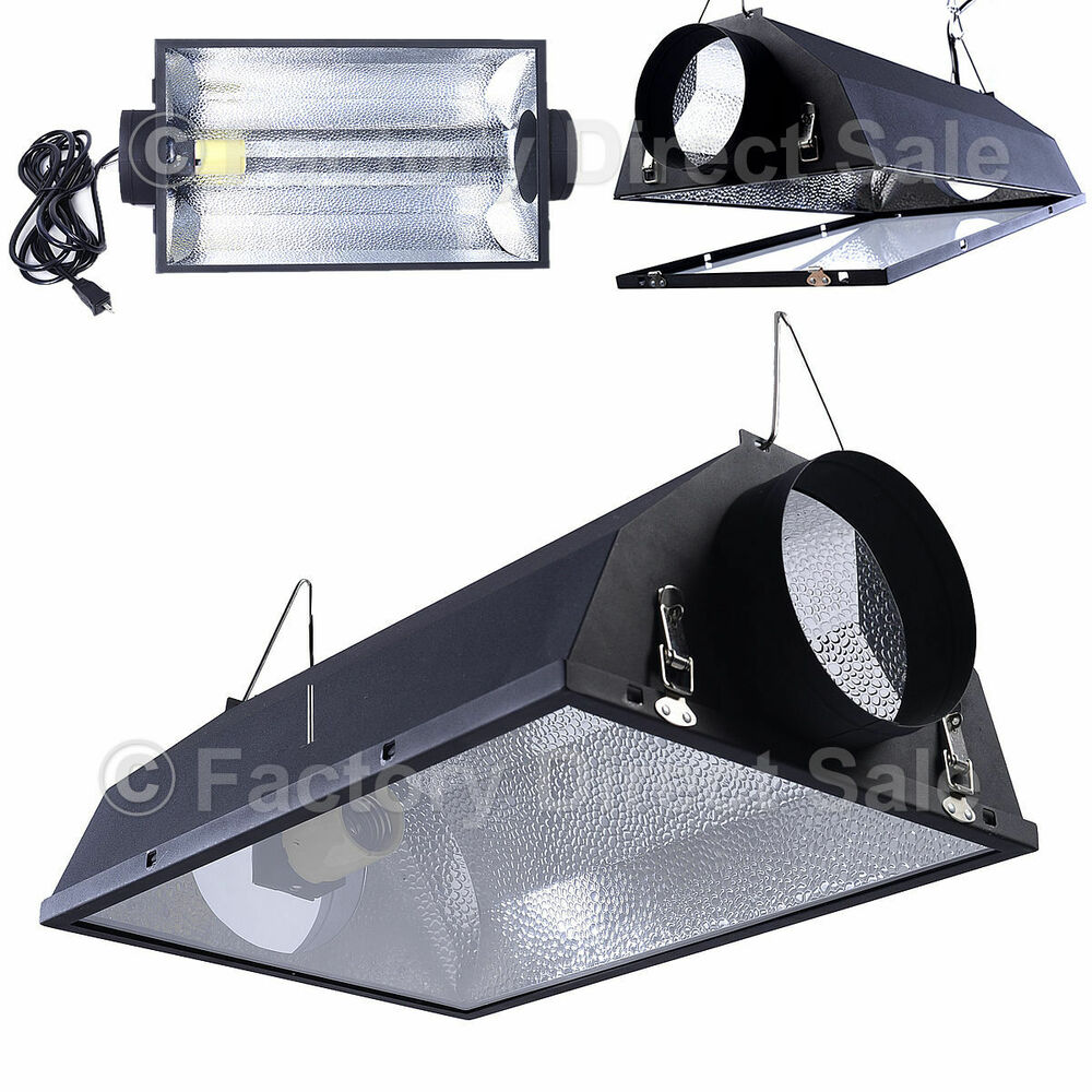 """Shop Light With Reflector: 6"""" Air Cooled Hood Reflector Hydroponics Light Grow"""