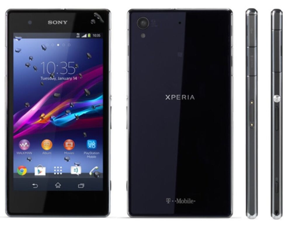 sony xperia z1s 32gb 4g lte t mobile android cell phone. Black Bedroom Furniture Sets. Home Design Ideas