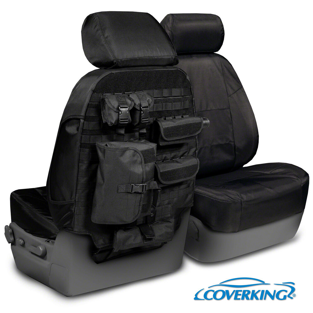NEW Tactical Ballistic Solid Black Seat Covers W Molle