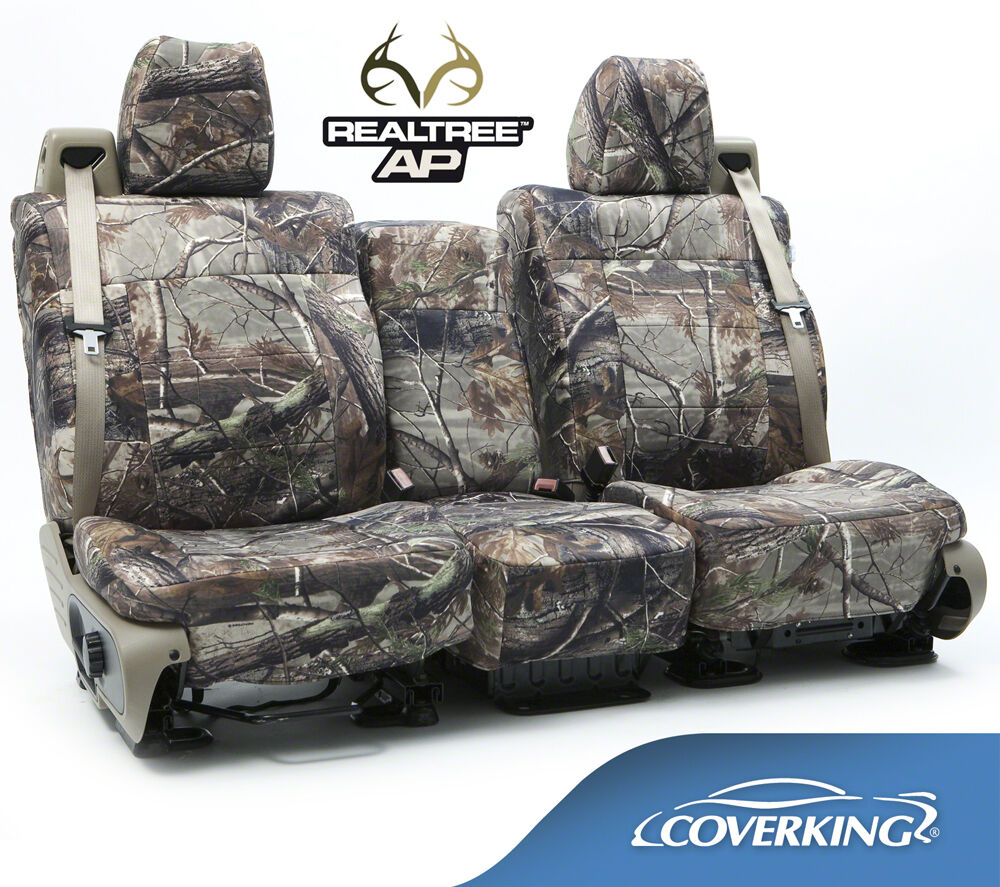 new full printed realtree ap camo camouflage seat covers 5102033 28 ebay. Black Bedroom Furniture Sets. Home Design Ideas