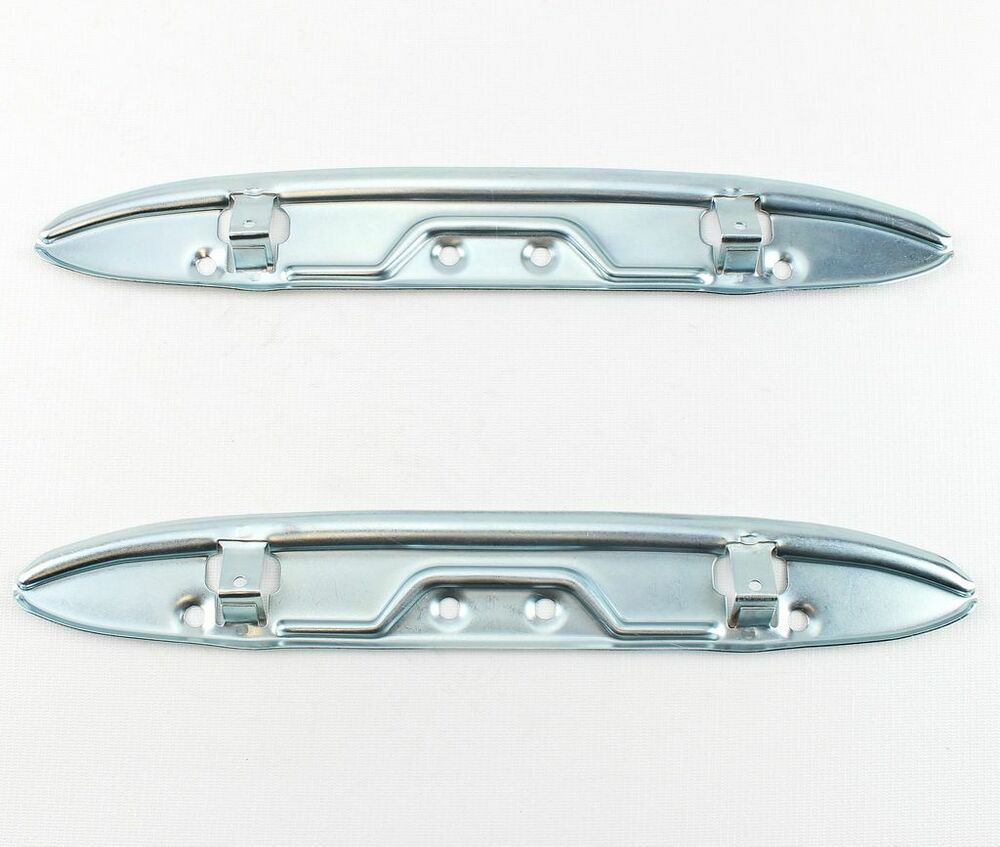 57 1957 chevy bel air front door panel arm rest brackets pair new ebay. Black Bedroom Furniture Sets. Home Design Ideas