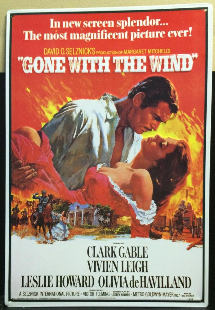 Gone With The Wind Movie Poster Steel Sign X