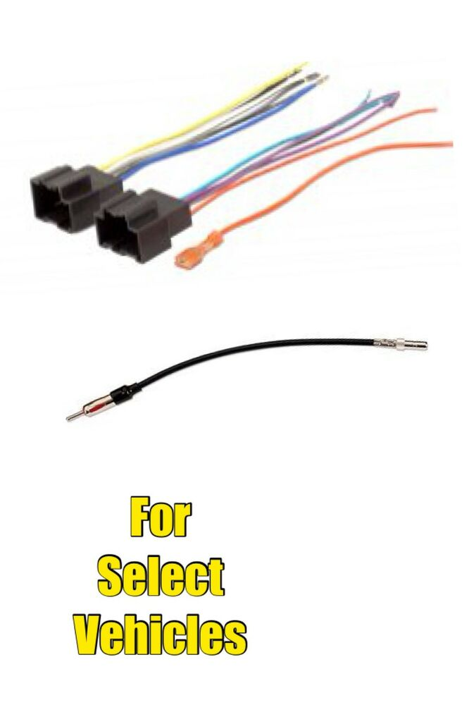 car stereo radio wire harness antenna adapter combo set. Black Bedroom Furniture Sets. Home Design Ideas