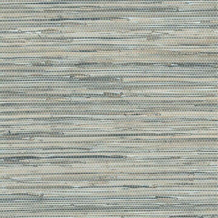 Silver Grasscloth Wallpaper: Blue Grey Faux Grasscloth Wallpaper NT33703