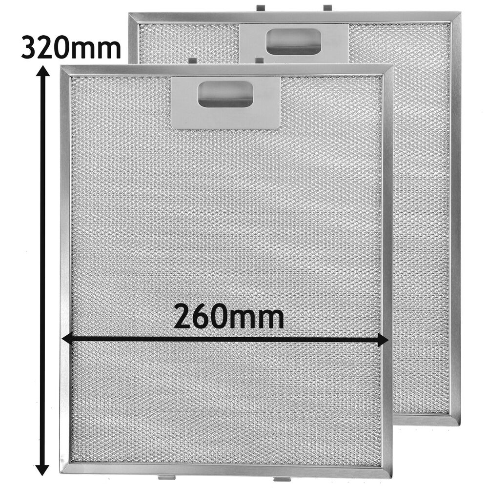 2 x Belling Metal Cooker Hood Mesh Aluminium Grease