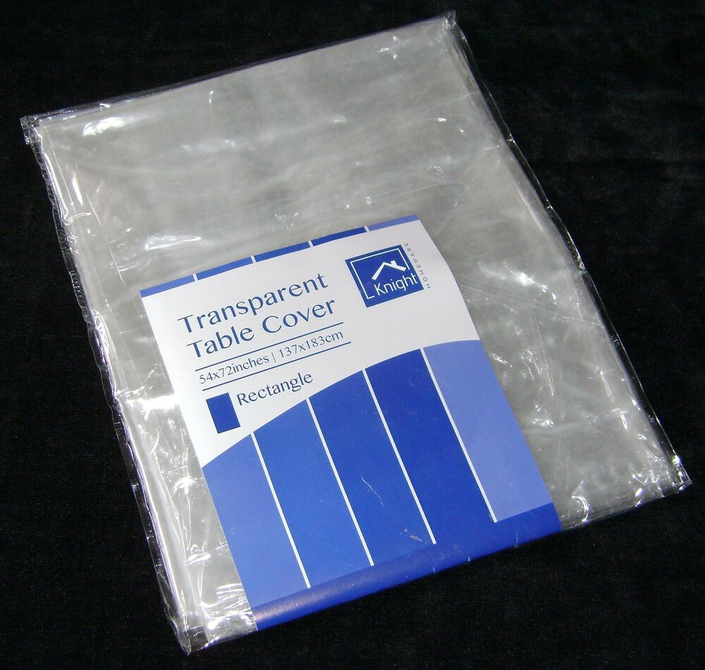 NEW TRANSPARENT TABLECLOTH COVER CLEAR WIPE CLEAN 54quot x 72  : s l1000 from www.ebay.com size 1000 x 951 jpeg 120kB