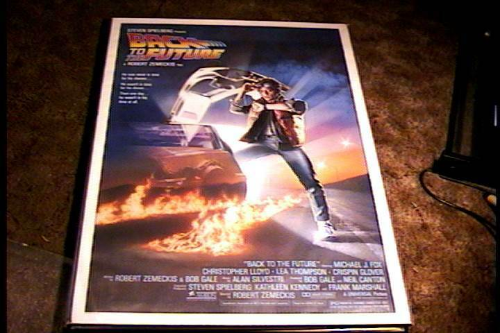 BACK TO THE FUTURE ROLLED 27X41 ORIG MOVIE POSTER 1985 ...