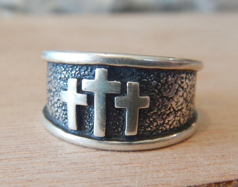 Wide Band Christian Fine Rings