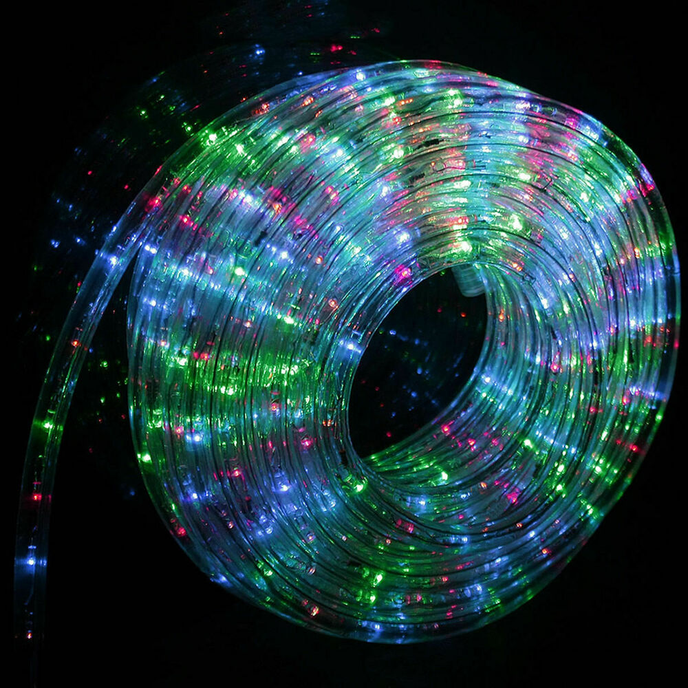 Outdoor Lights Decor: 50' 100' 150' 300' LED Rope Light Home Outdoor Christmas