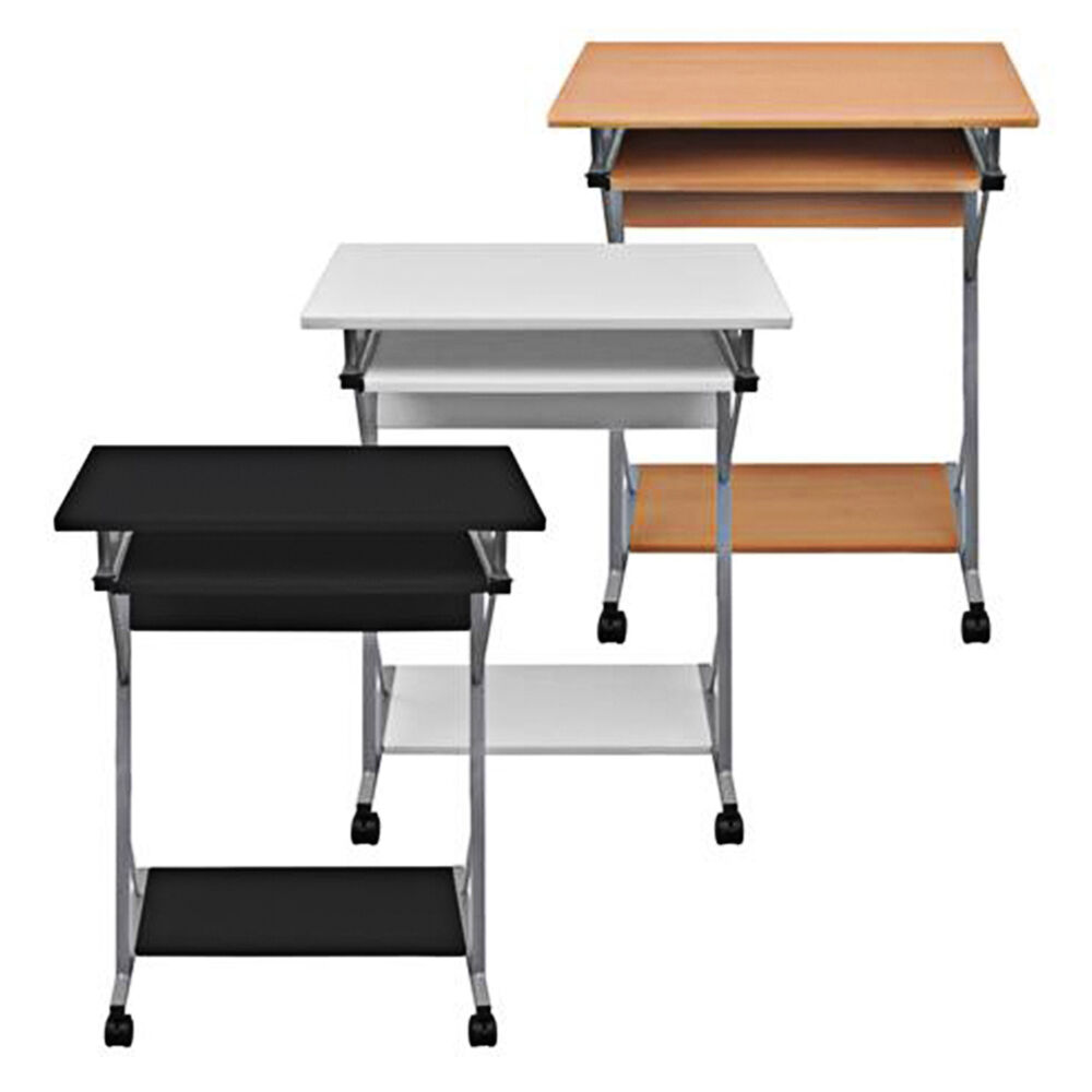 computertisch schreibtisch b rotisch computerwagen pc tisch laptop auf rollen ebay. Black Bedroom Furniture Sets. Home Design Ideas