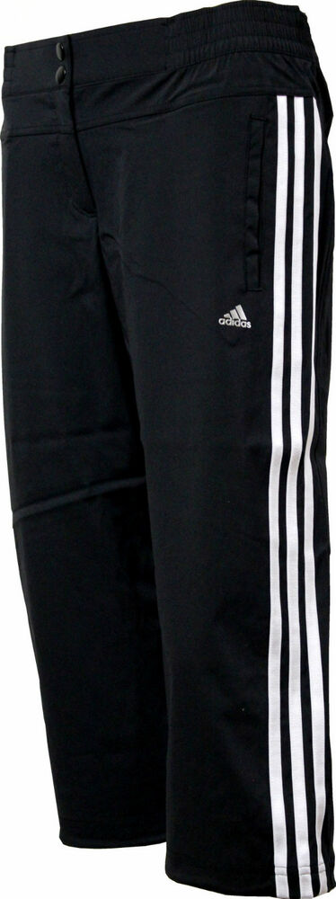 adidas climalite cct 3s wv woven 3 4 trainingshose sporthose caprihose schwarz ebay. Black Bedroom Furniture Sets. Home Design Ideas