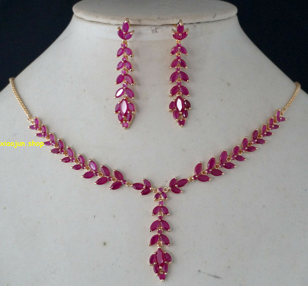 105ct top class natural ruby necklace earrings gold set. Black Bedroom Furniture Sets. Home Design Ideas