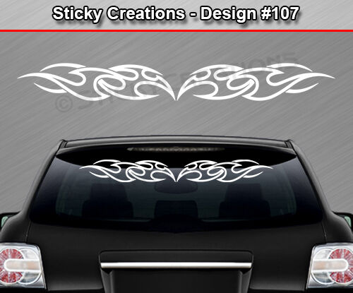 Design tribal flame windshield decal rear window