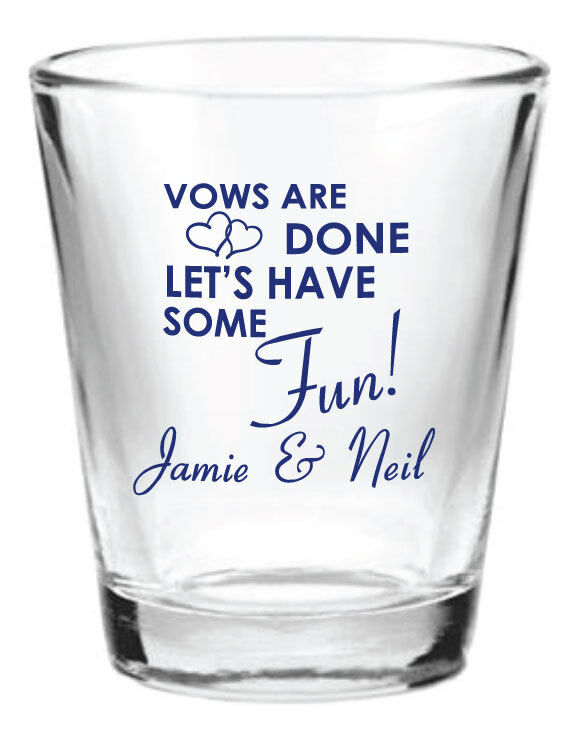 personalized wedding favors glass shot glasses vows are done let 39 s