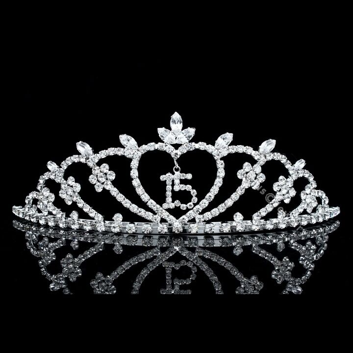 Pageant Quinceanera 15 Birthday Party Rhinestones Crystal