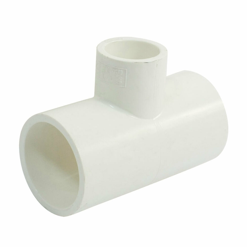 Three 3 way t shaped white pvc u water pipe coupling for White plastic water pipe