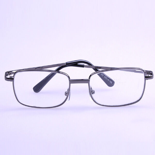 Gray Frame Reading Glasses : Eyewear Metal Grey Frame Reading Glasses Presbyopic Lens ...