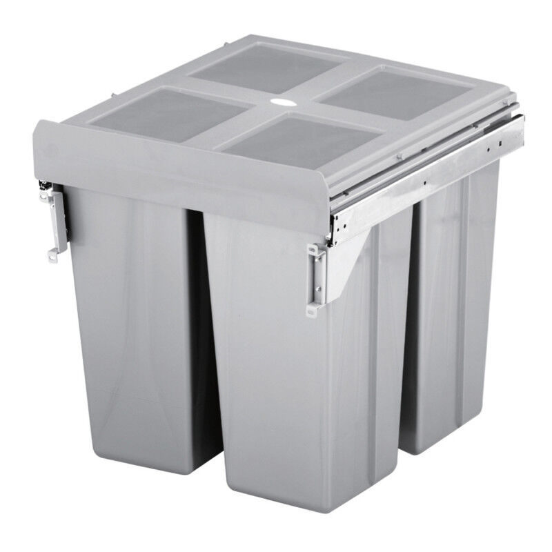 Kitchen Cabinet Waste Bins: PULL OUT KITCHEN CABINET INTEGRATED RECYCLE WASTE BIN