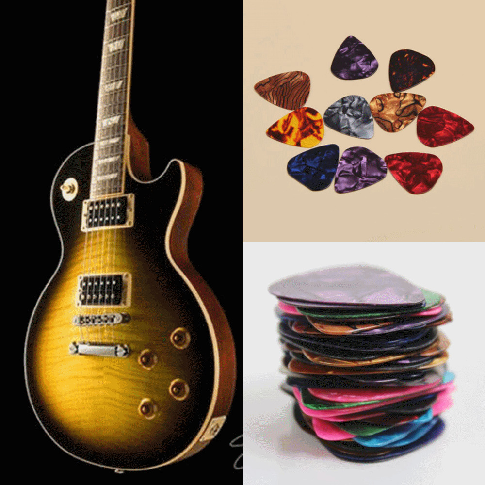10pcs mix thickness electric guitar picks plectrums celluloid acoustic 6052697322662 ebay. Black Bedroom Furniture Sets. Home Design Ideas