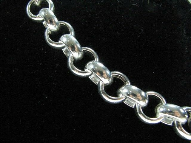 26 Inch 10mm Rolo Link Chain Necklace With Lobster Clasp