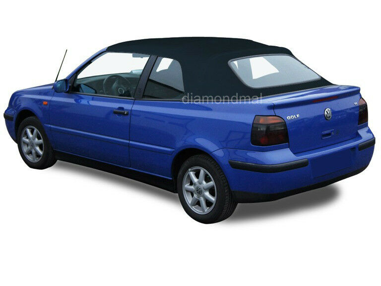 vw volkswagen golf cabrio cabriolet   convertible soft top blue german ebay