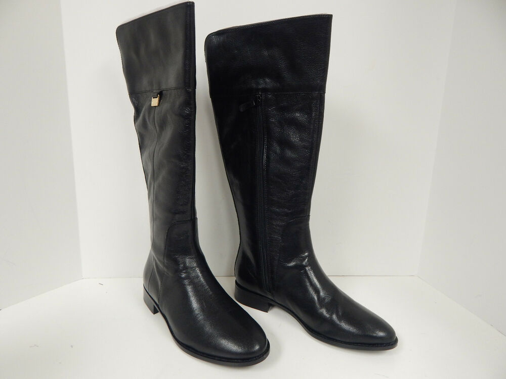 cole haan walden ii 1 quot black soft leather dress boots