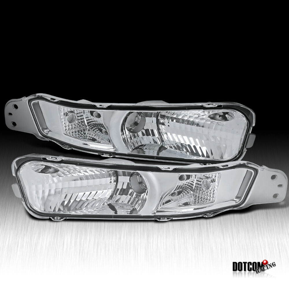 2005 Ford Mustang Front Bumper >> 2005-2009 Ford Mustang Clear Front Signal Bumper Lights | eBay