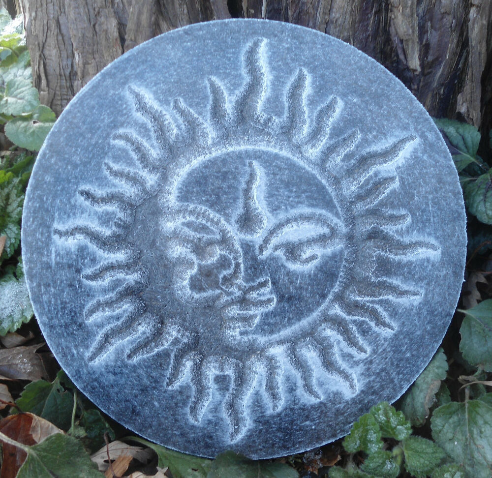 plastic sun plaque mold garden plaque stepping stone ebay. Black Bedroom Furniture Sets. Home Design Ideas