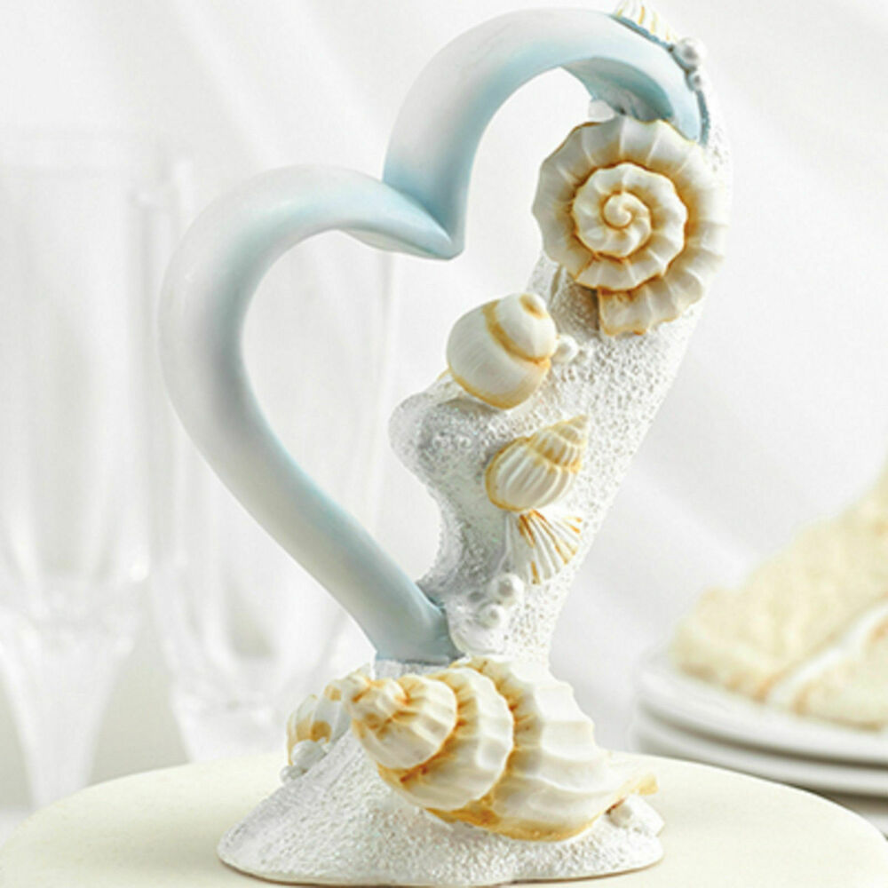 beach themed wedding cake toppers new wedding cake topper seashell theme 11154