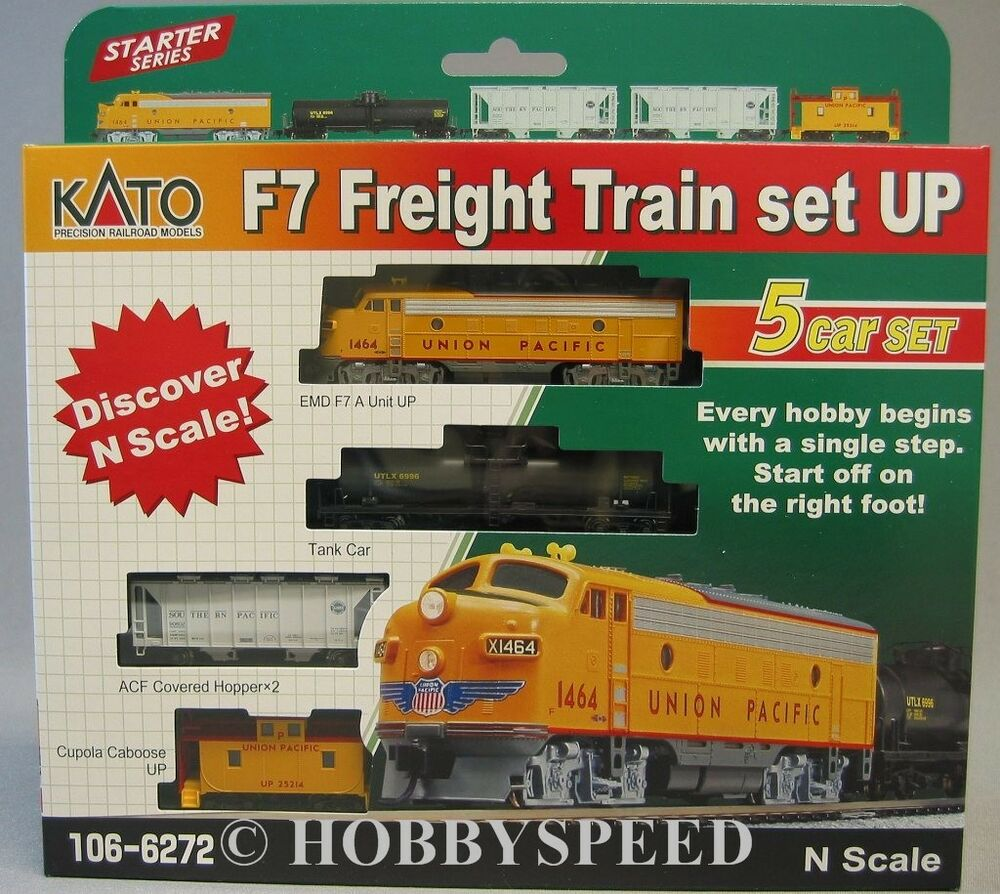KATO N SCALE F7 FREIGHT TRAIN SET Union Pacific UP Diesel ...