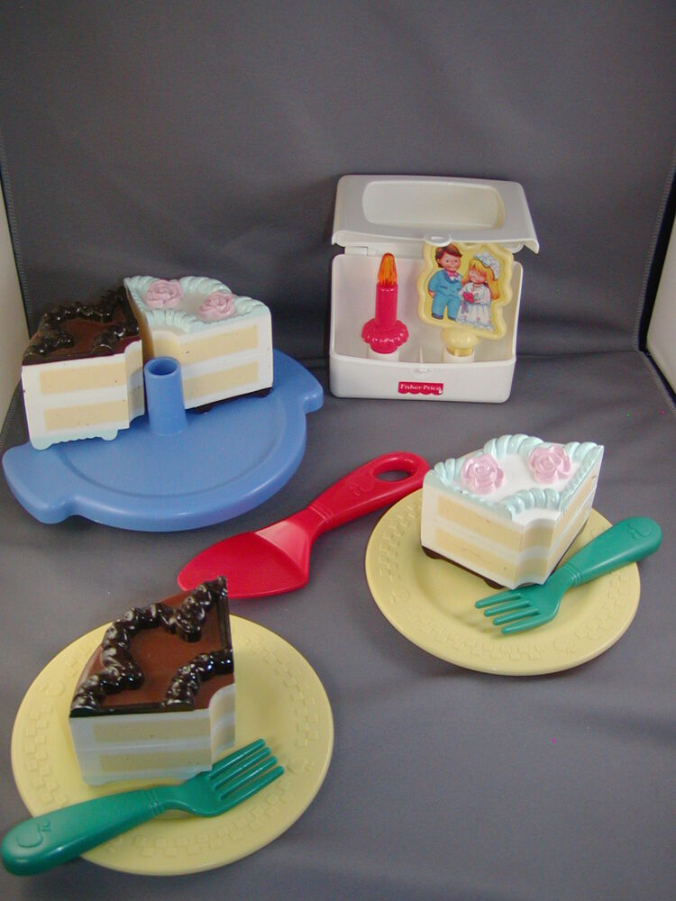 Fisher price fun food kitchen 2 in 1 birthday wedding for Kitchen set cake