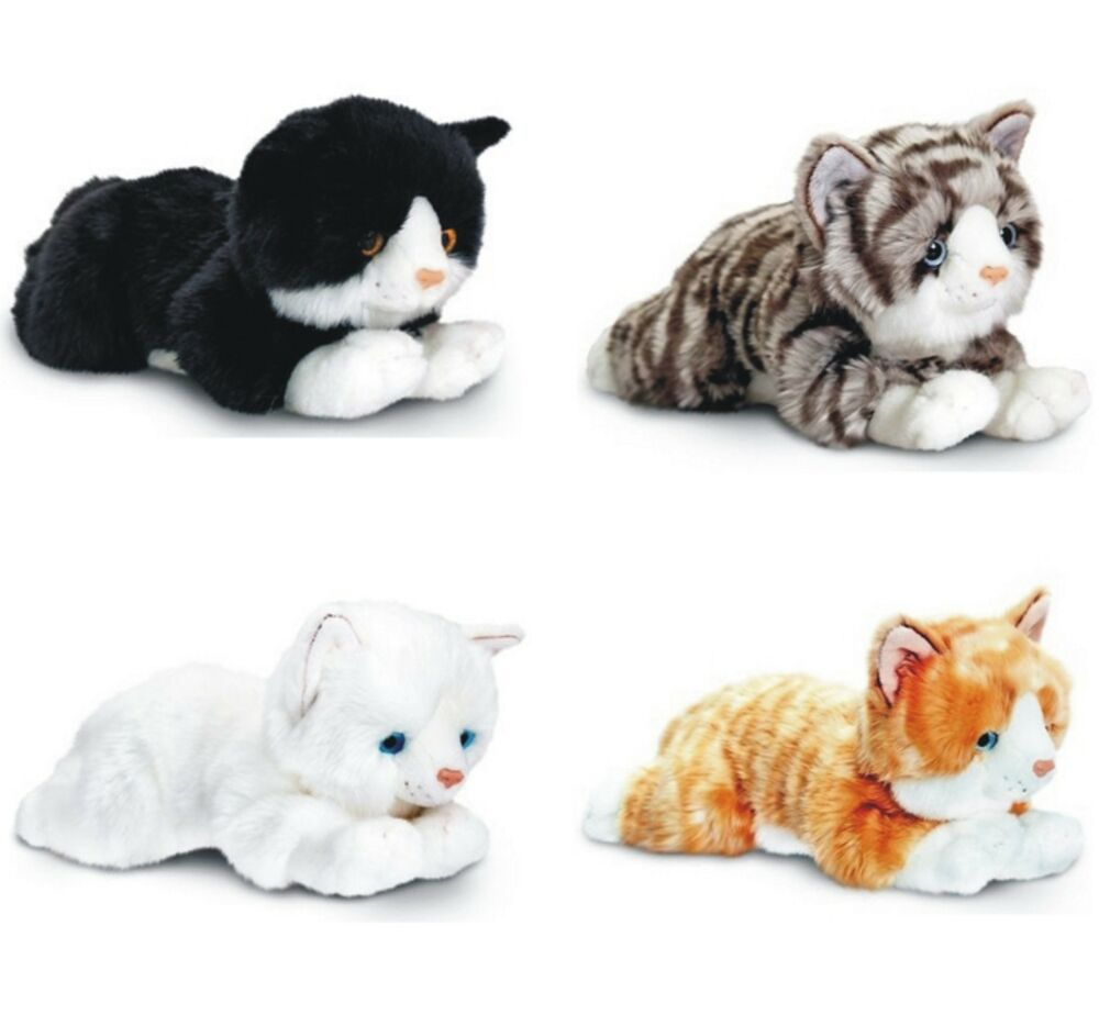 keel 25cm laying cats white ginger tabby black white. Black Bedroom Furniture Sets. Home Design Ideas