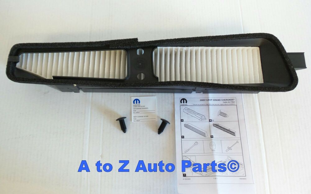 S L on Jeep Grand Cherokee Cabin Air Filter